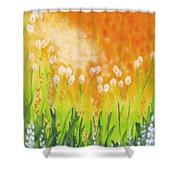 Shower Curtain featuring the painting Sonbreak by Holly Carmichael