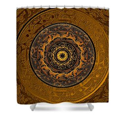 Song Of Heaven Mandala Shower Curtain by Michele Avanti