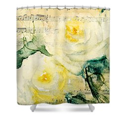 Song Of Roses Shower Curtain by Sandra Strohschein