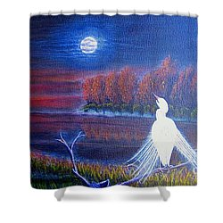 Shower Curtain featuring the painting Song Of The Silent Autumn Night by Kimberlee Baxter