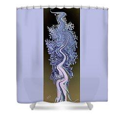 Song - Yucca Flower Shower Curtain by Ben and Raisa Gertsberg