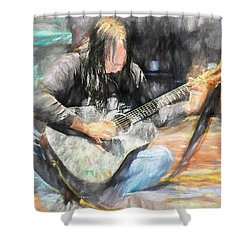Songs From The Street Shower Curtain by Bob Orsillo