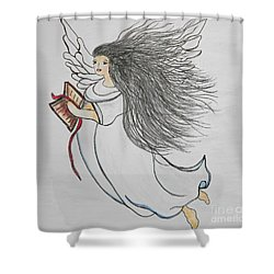 Shower Curtain featuring the painting Songs Of Angels by Eloise Schneider