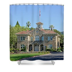 Sonoma City Hall Shower Curtain by Jenny Hudson