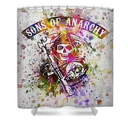 Sons Of Anarchy In Color Shower Curtain by Aged Pixel