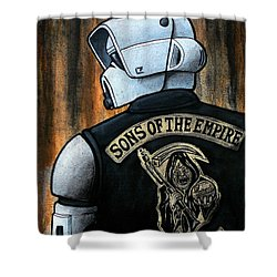 Sons Of The Empire Shower Curtain by Marlon Huynh