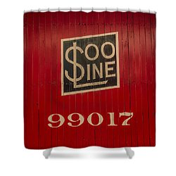 Soo Line Box Car Shower Curtain