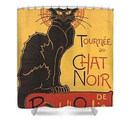 Soon The Black Cat Tour By Rodolphe Salis  Shower Curtain by Tracey Harrington-Simpson