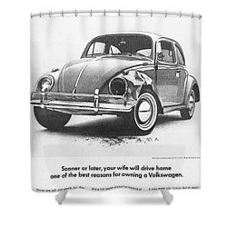 Sooner Or Later Your Wife Will Drive Home.............. Shower Curtain by Georgia Fowler