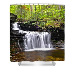 Soothing Tranquility Shower Curtain by Frozen in Time Fine Art Photography