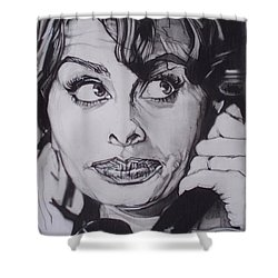 Sophia Loren Telephones Shower Curtain