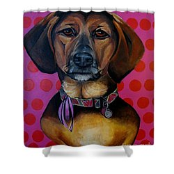 Sophia - My Rescue Dog  Shower Curtain