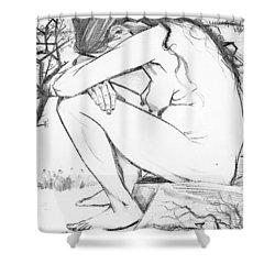 Sorrow After Vincent Van Gogh  Shower Curtain by Tracey Harrington-Simpson