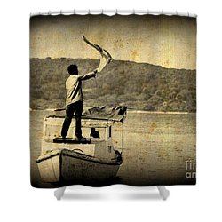 Sos   Need Gas To Get To Shore Shower Curtain by John Malone