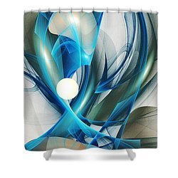 Soul Blueprint Shower Curtain by Anastasiya Malakhova