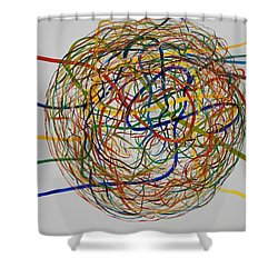Soul Journey 1 Shower Curtain by Tim Mullaney