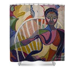 Soul Portrait Shower Curtain