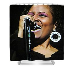 Soul Singer Shower Curtain by Aaron Martens