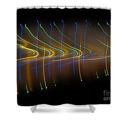 Soundcloud. Dancing Lights Series Shower Curtain by Ausra Huntington nee Paulauskaite