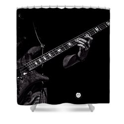 Sounds In The Night Bass Man Shower Curtain