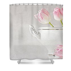 Soup Of Tulips Shower Curtain by Claudia Moeckel