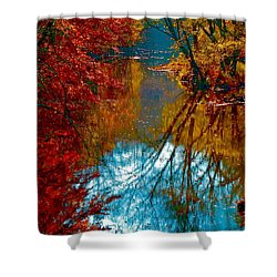 South Anna River Reflections Shower Curtain