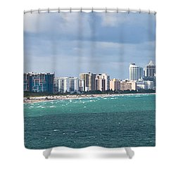 South Beach On A Summer Day Shower Curtain