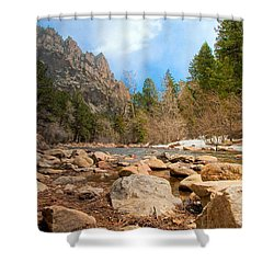 South Boulder Creek - Eldorado Canyon State Park Shower Curtain