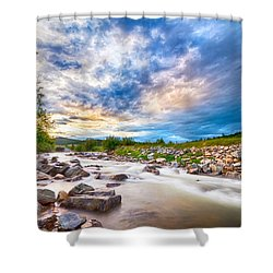 South Boulder Creek Sunset View Rollinsville Colorado Shower Curtain by James BO  Insogna