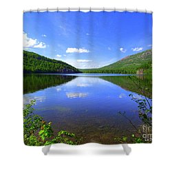 South Branch Pond Shower Curtain