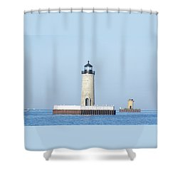 South Channel Lights Shower Curtain