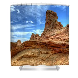 South Coyotte Buttes 8 Shower Curtain by Bob Christopher