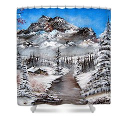 Shower Curtain featuring the painting South Dakota Morning by Patrice Torrillo