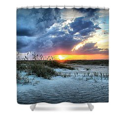 South End Sunset Shower Curtain