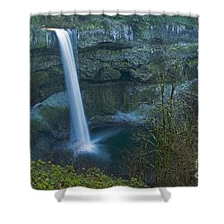 Shower Curtain featuring the photograph South Falls Winterscape by Nick  Boren