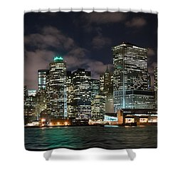 South Ferry Manhattan At Night Shower Curtain