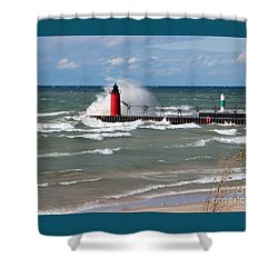 South Haven Splash Shower Curtain