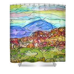 South Mesa Freestyle Shower Curtain