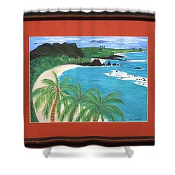 Shower Curtain featuring the painting South Pacific by Ron Davidson
