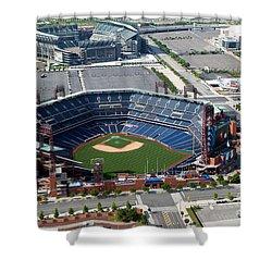 South Philadelphia Sports Complex Philadelphia Pennsylvania Shower Curtain by Bill Cobb