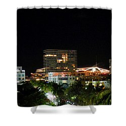 South Pointe Miami Shower Curtain by J Anthony