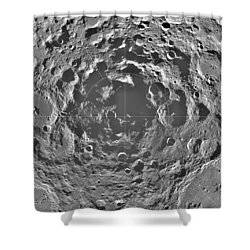 South Pole Of Moon  Shower Curtain by Anonymous
