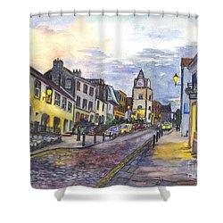 Nightfall At South Queensferry Edinburgh Scotland At Dusk Shower Curtain