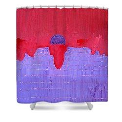 South Rim Sun Original Painting Shower Curtain