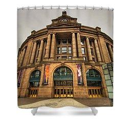 Boston South Station Shower Curtain by Joann Vitali
