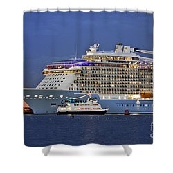 Size Matters Shower Curtain by Terri Waters