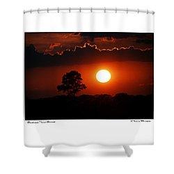 Southeast Texas Sunset Shower Curtain