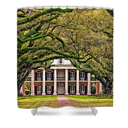 Southern Class Oil Shower Curtain