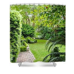 Shower Curtain featuring the photograph Southern Garden Charleston South Carolina by Vizual Studio
