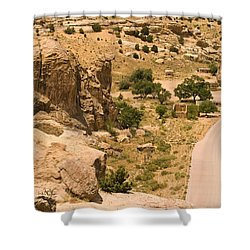 Southern Mesa View Shower Curtain by James Gay